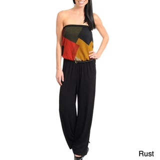 Stanzino Women's Strapless Belted Jumpsuit