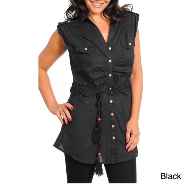 Stanzino Women's Plus Cap Sleeve Tunic