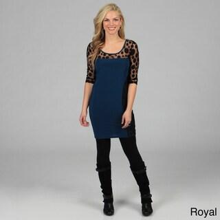 Stanzino Women's Plus Mesh Dots Dress