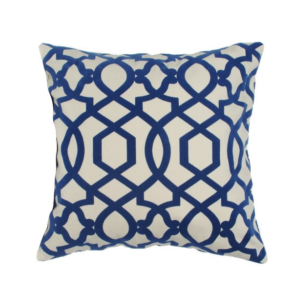 Trellis Hampton Royal Blue 20-inch Decorative Pillow