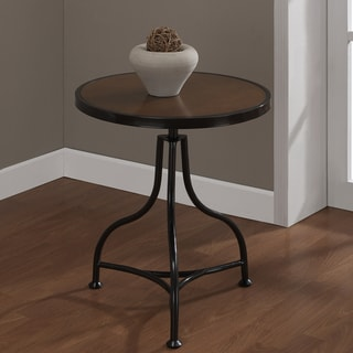 School House Round Accent Table
