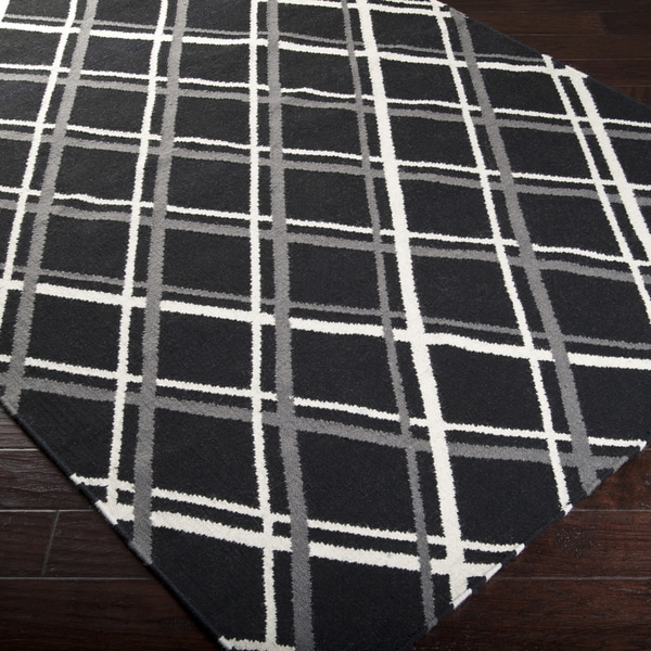 Hand-woven Tempe Crosshatched Wool Rug