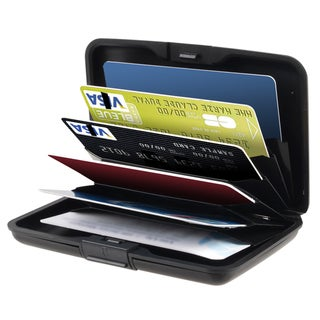 BasAcc Black Fit Up to 30 Business Cards Aluminum Universal Card Case