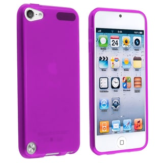 BasAcc Purple TPU Rubber Skin Case for Apple� iPod touch Generation 5