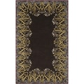 Smithsonian Hand-tufted Davie Floral Border Wool Rug