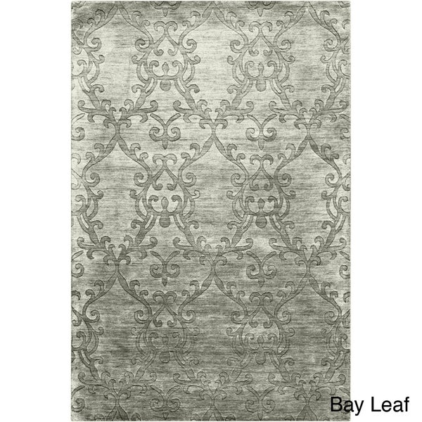 Hand-crafted Solid Casual Idaho Wool Rug