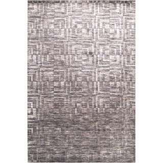 Hand-crafted Solid Casual Pearson Wool Rug