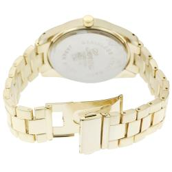 Geneva Platinum Women's Rhinestone-accented Large Face Link Watch