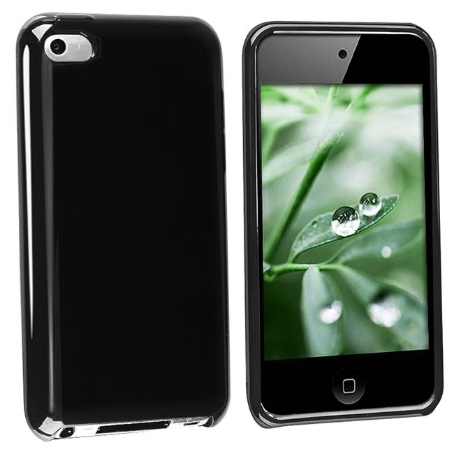 Black TPU Rubber Case for Apple iPod Touch 4th Gen