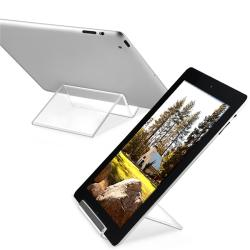 Crystal Clear Plastic Stand for Tablets/ iPad/ iPad 2