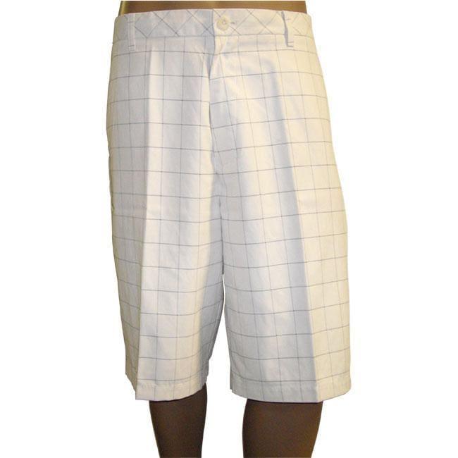 Ashworth Men's Flat Front Plaid Shorts