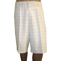 Ashworth Men's Flat Front Plaid Shorts