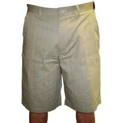 London Fog Men&#39;s Ashworth Flat Front Cotton Plaid Shorts