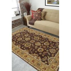 Hand-tufted Casa Plum Wool Rug (4' x 6')