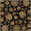 Hand-tufted Caper Black Wool Rug (4' Square)