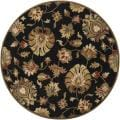 Hand-tufted Caper Black Wool Rug (9'9 Round)