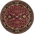 Hand-tufted Hellenic Red Wool Rug (6' Round)