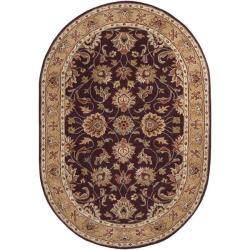 Hand-tufted Casa Plum Wool Rug (8' x 10' Oval)