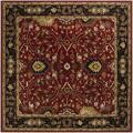 Hand-tufted Hellenic Red Wool Rug (8' Square)