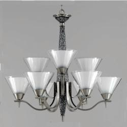 XO 9-light White Mosaic Chandelier