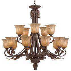 Vienna Weathered Bronze 15-light Chandelier