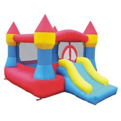 KidWise Square-shaped Castle and Slide Inflatable Large Bounce House