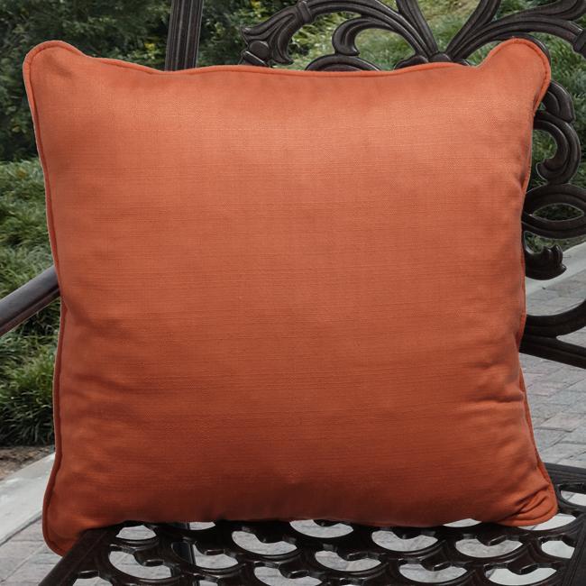 Kate Outdoor Coral Orange Pillows (Set of 2)