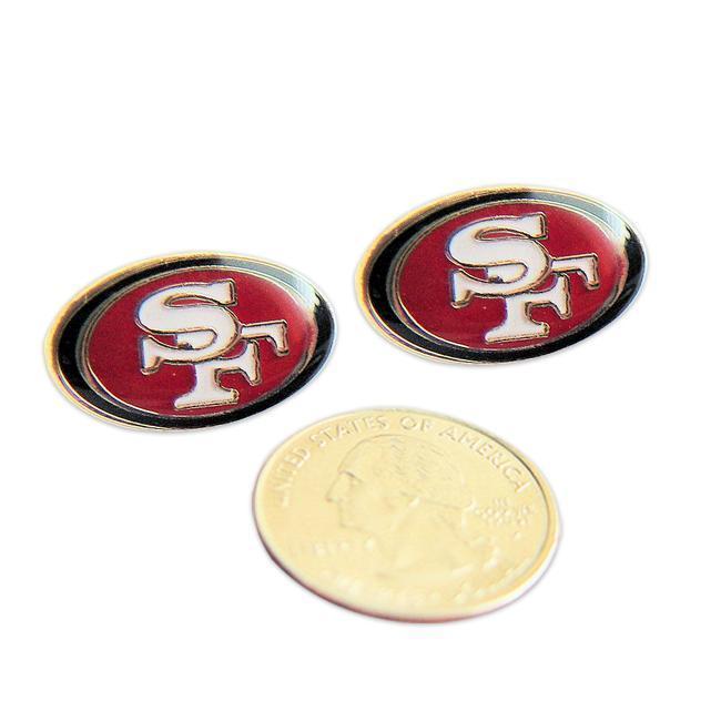 San Francisco 49ers Stud Logo Earrings