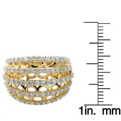 Beverly Hills Charm 14k Yellow Gold 1ct TDW Diamond Ring (H-I, I2)