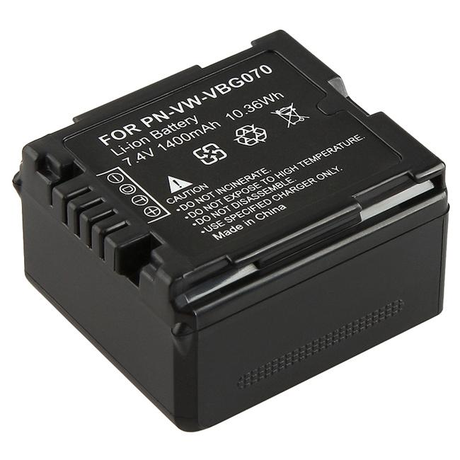 Black Li-ion Battery for Panasonic VW-VBG070