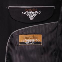 Men's Black 2-button Wool/Silk Blend Slim-fit Suit