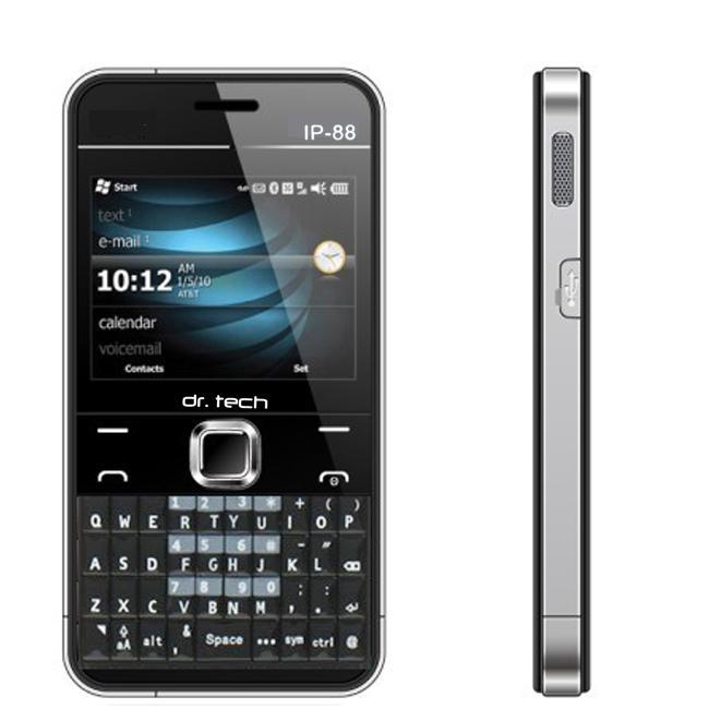 dr. tech IP88 Black Dual SIM Unlocked Cell Phone