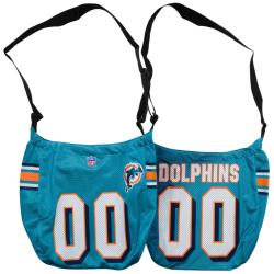Little Earth Miami Dolphins Veteran Jersey Tote Bag