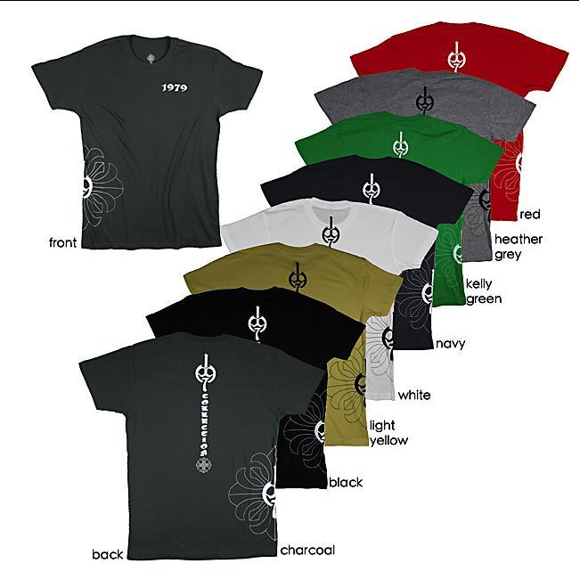 1979 Collection Men's Graphic 'Fleur-de-lis Cross' Crewneck T-shirt