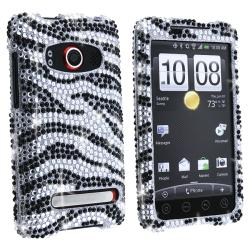 Silver/ Black Zebra Diamond Case for HTC EVO 4G