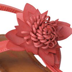 Journee Collection Women's 'Cupcake-01' Floral Accent Wedge Sandals