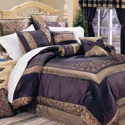 Ventura Eggplant Full-size 20-piece Bed in a Bag Set