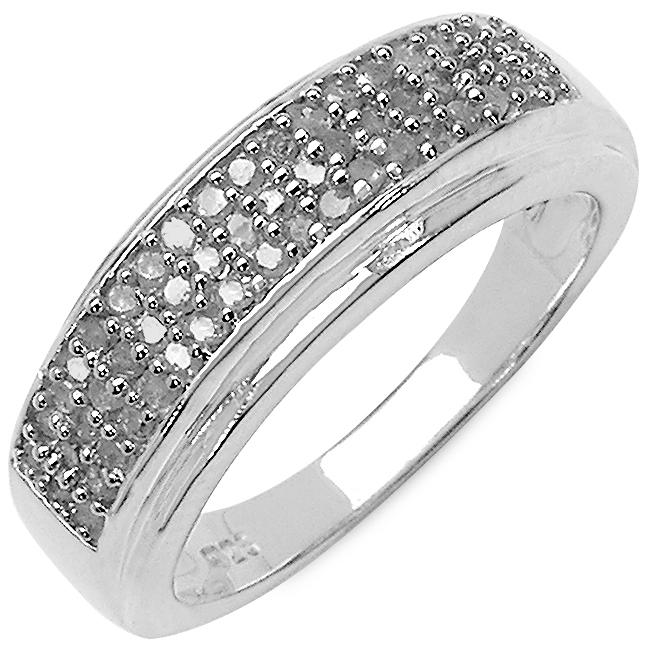 Malaika Sterling Silver 1/3ct TDW Diamond Ring (I-J, I2-I3)