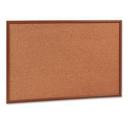 Quartet Cork Bulletin Board- 36 x 24- Oak Frame