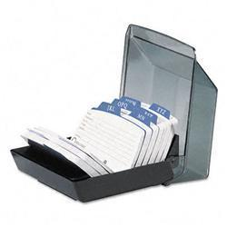 Rolodex Petite Covered Tray Card File Holds 250