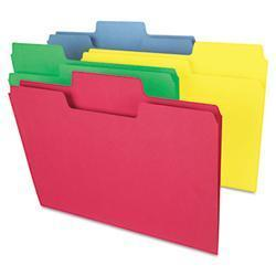 Smead SuperTab Colored File Folders- 1/3 Cut-