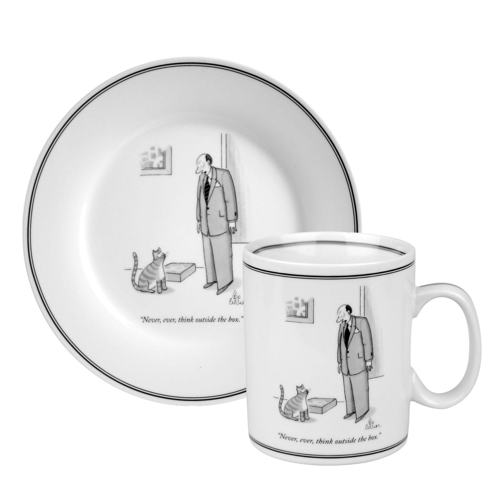 Konitz New Yorker Collection 'Outside The Box' Mug and Plate Set