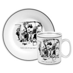 Konitz New Yorker Collection 'Where Magic Happens' Mug and Plate Set