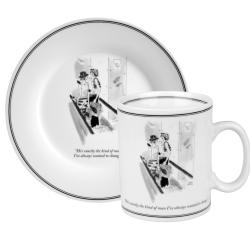 Konitz New Yorker Collection 'Exactly the Kind of Man' Mug and Plate Set