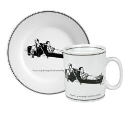 Konitz New Yorker Collection 'Can We up the Dosage' Mug and Plate Set