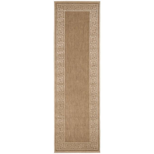 Woven Portera Indoor/Outdoor Geo Border Rug (2'6 x 7'10)