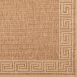Woven Portera Indoor/Outdoor Geo Border Rug (3'9 x 5'8)