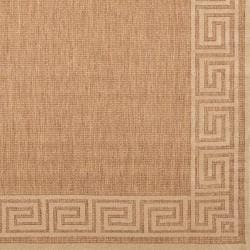 Woven Portera Indoor/Outdoor Geo Border Rug (5' x 7'6)