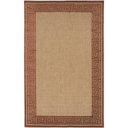 Woven Allston Indoor/Outdoor Geo Border Rug (8'8 x 12')