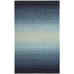 Martha Stewart Ombre Gradient Blue Wool Rug (9' x 12')